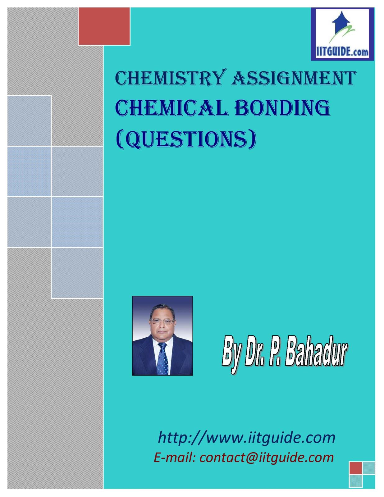 IIT JEE Main Advanced Chemistry Problems - Chemical Bonding