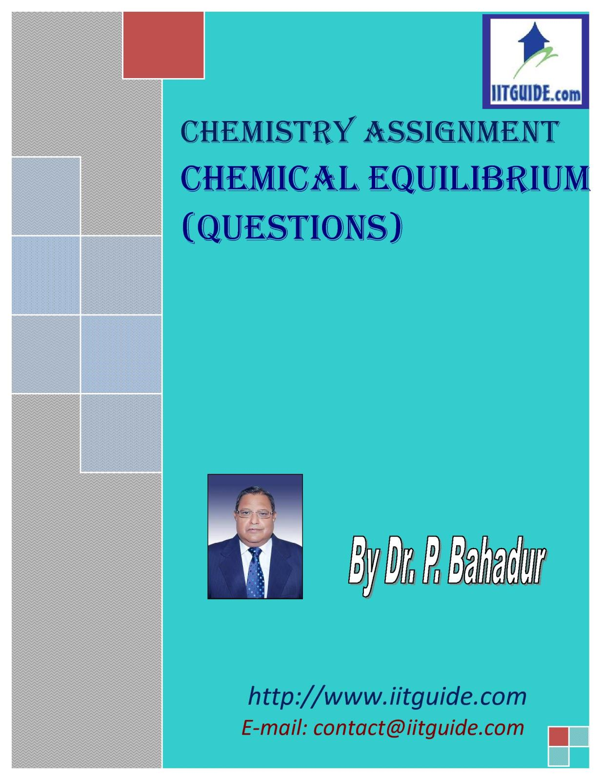 IIT JEE Main Advanced Chemistry Problems - Chemical Equilibrium