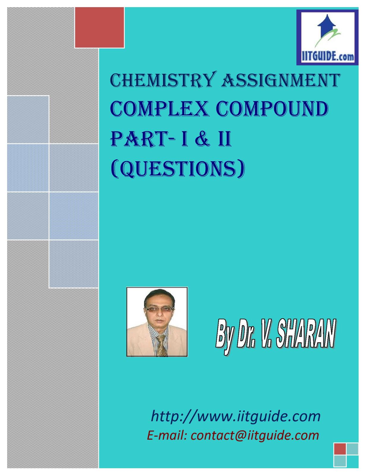 IIT JEE Main Advanced Chemistry Problems - Complex Compound