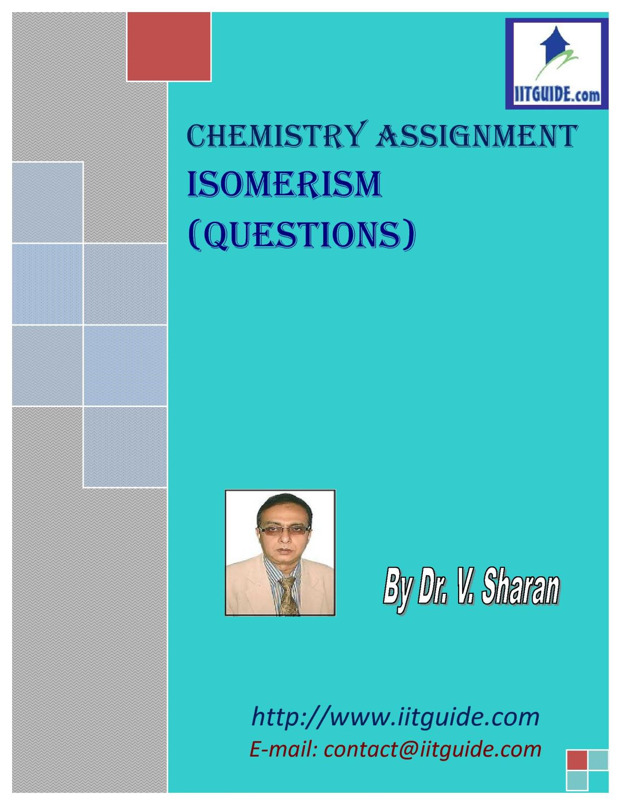IIT JEE Main Advanced Chemistry Problems - Isomerism