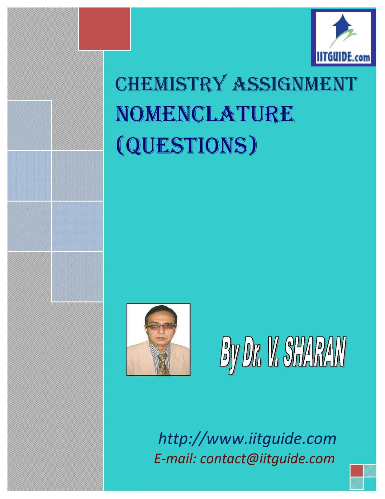 IIT JEE Main Advanced Chemistry Problems - Nomenclature
