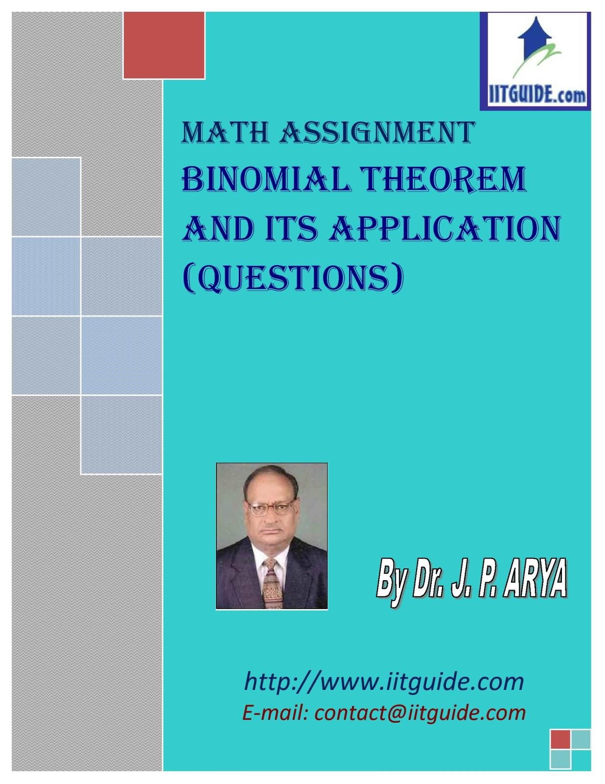 IIT JEE Main Advanced Math Problems - Binomial Theorem