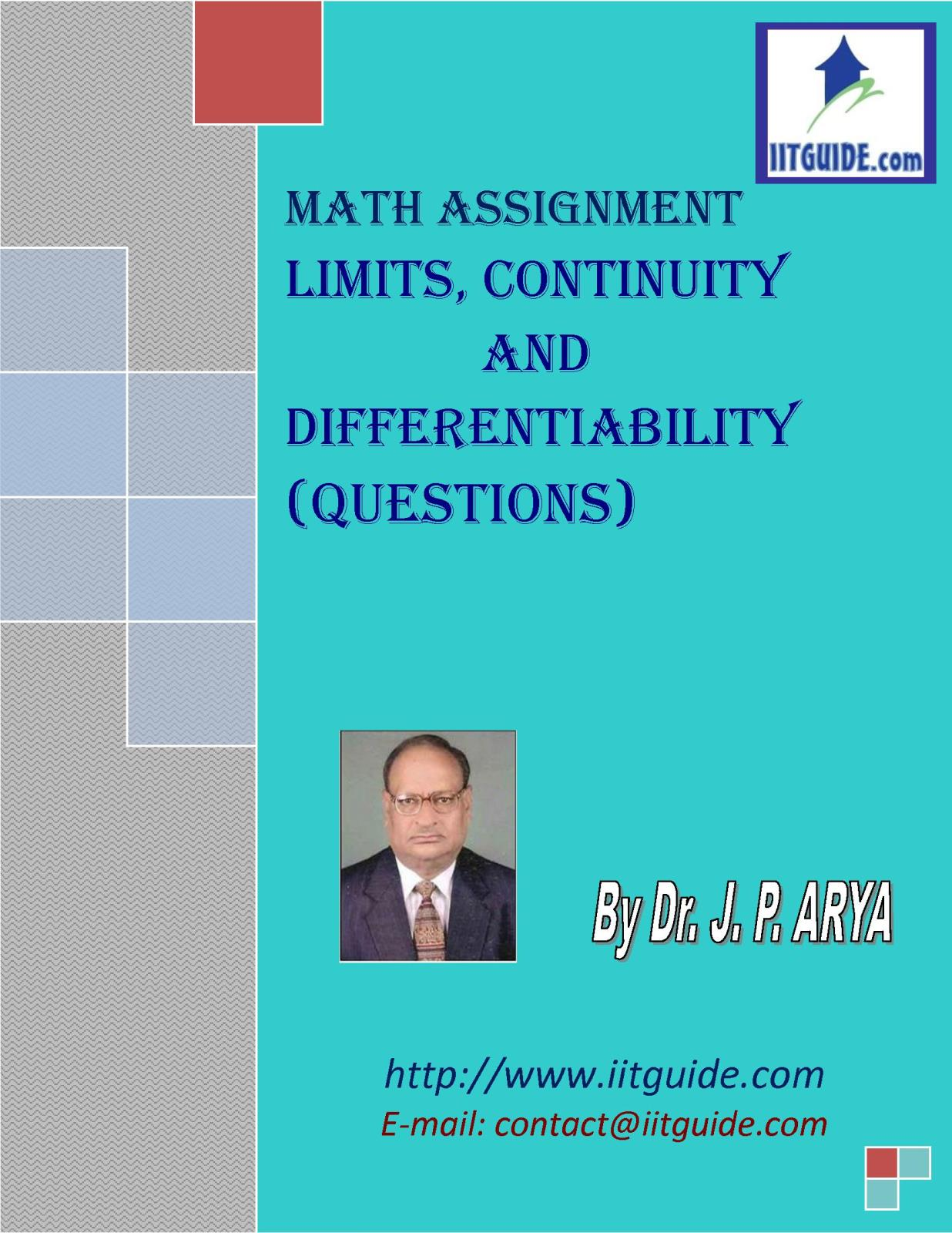 IIT JEE Main Advanced Math Problems - Continuity and Differentiability