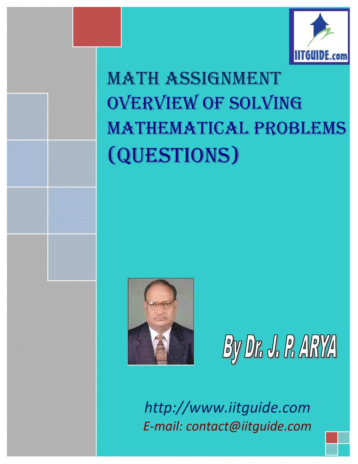 IIT JEE Main Advanced Math Problems - Overview