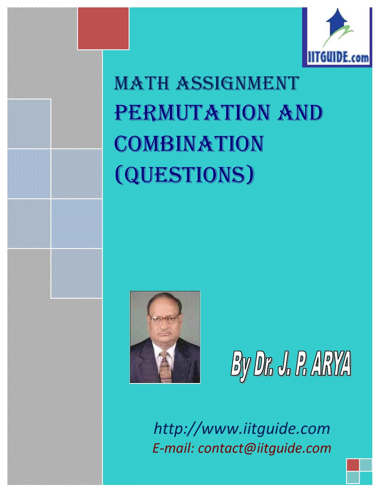 IIT JEE Main Advanced Math Problems - Permutations and Combinations