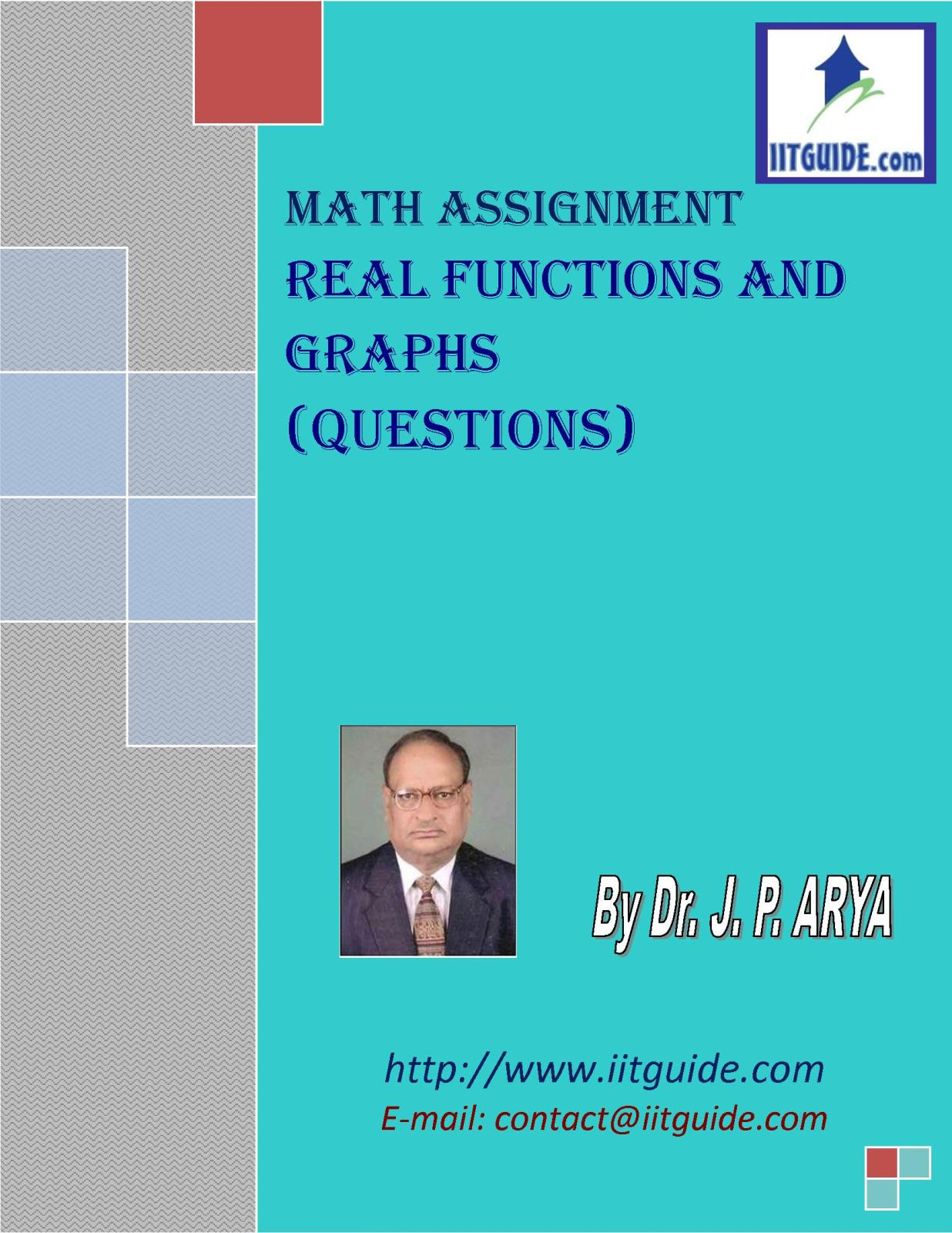 IIT JEE Main Advanced Math Problems - Real Functions and Graphs