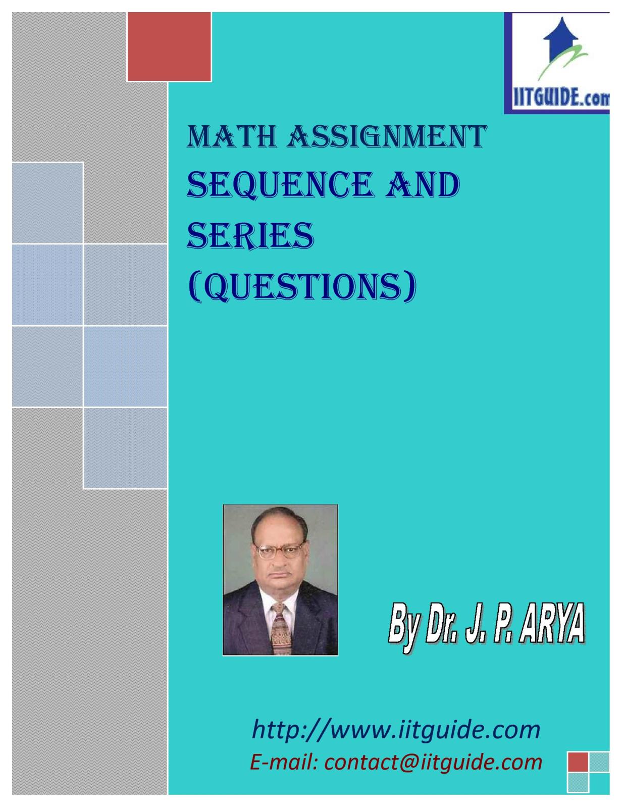 IIT JEE Main Advanced Math Problems - Sequence and Series