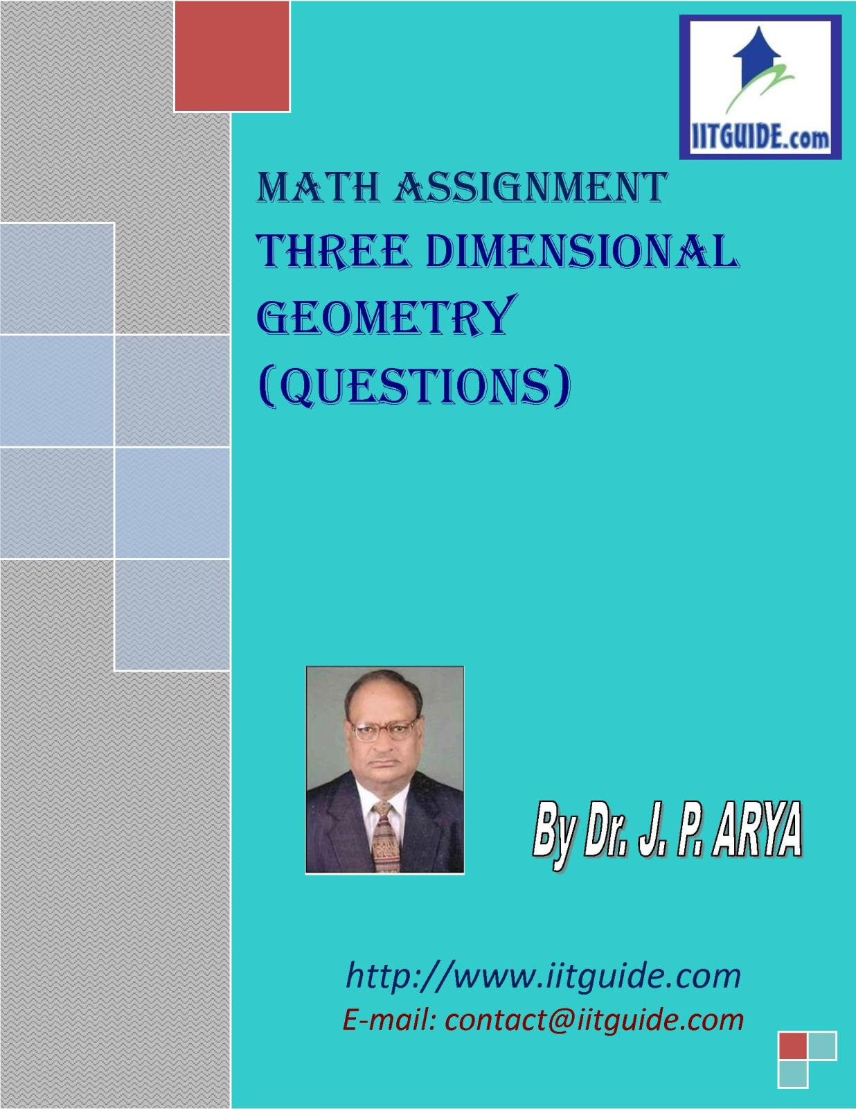 IIT JEE Main Advanced Math Problems - Three Dimensional Geometry