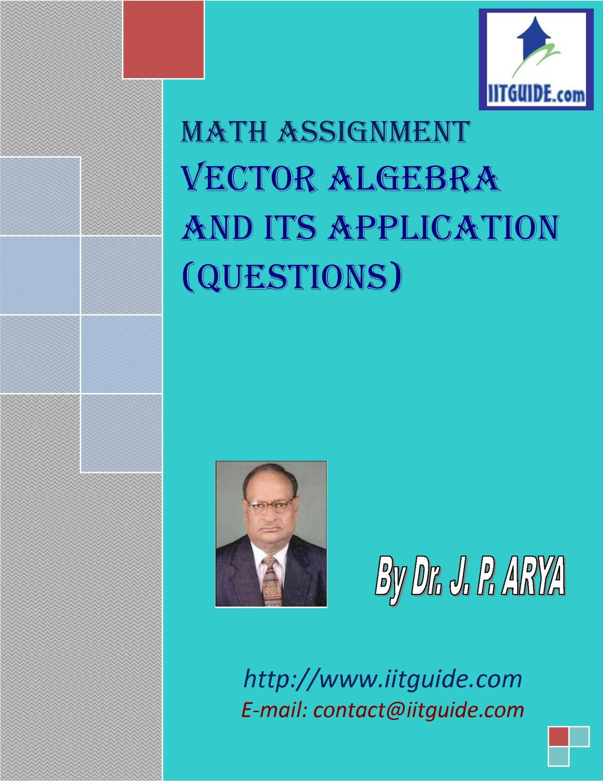 IIT JEE Main Advanced Math Problems - Vector Algebra Application