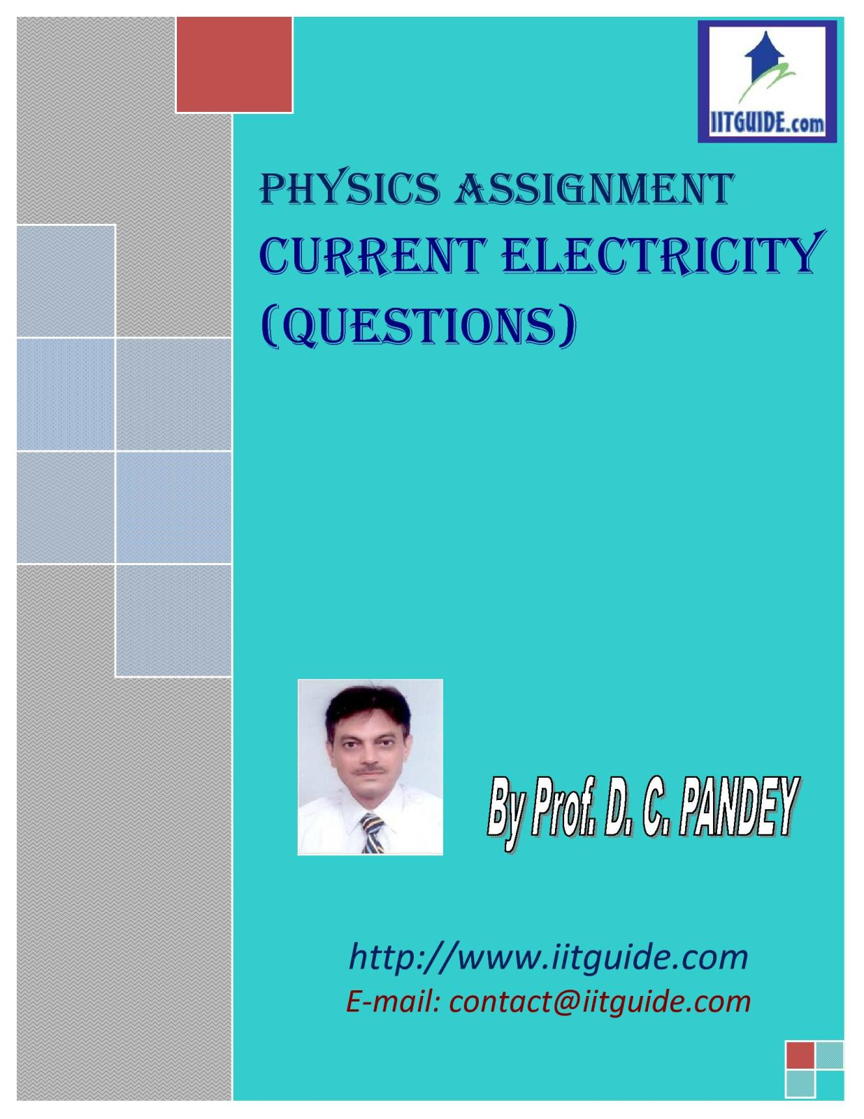 IIT JEE Main Advanced Physics Problems - Current Electricity