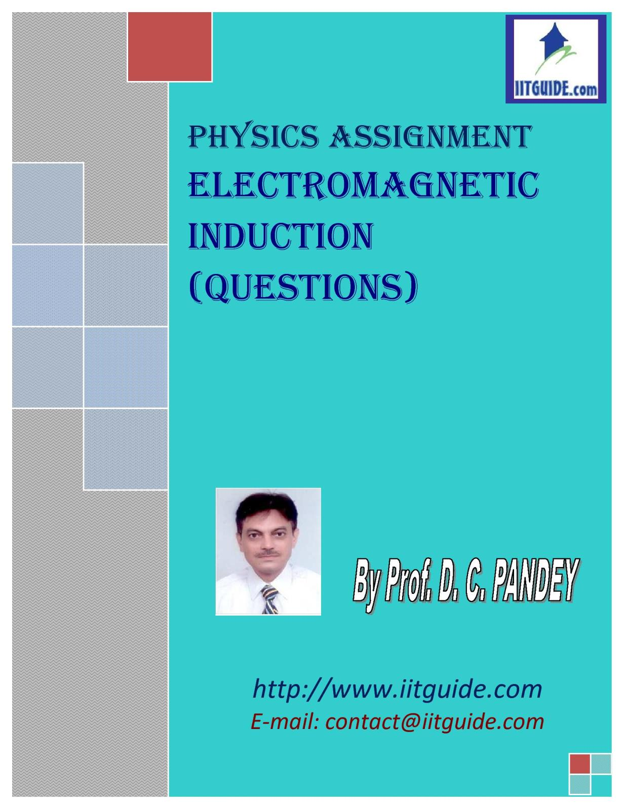 IIT JEE Main Advanced Physics Problems - Electromagnetic Induction