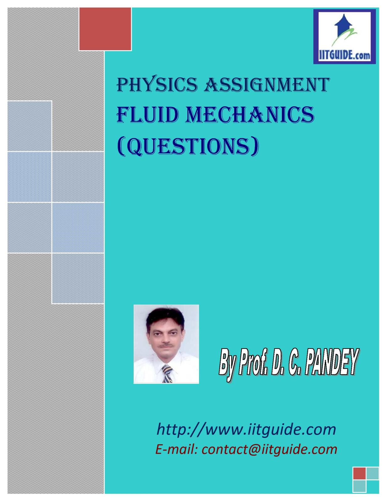IIT JEE Main Advanced Physics Problems - Fluid Mechanics
