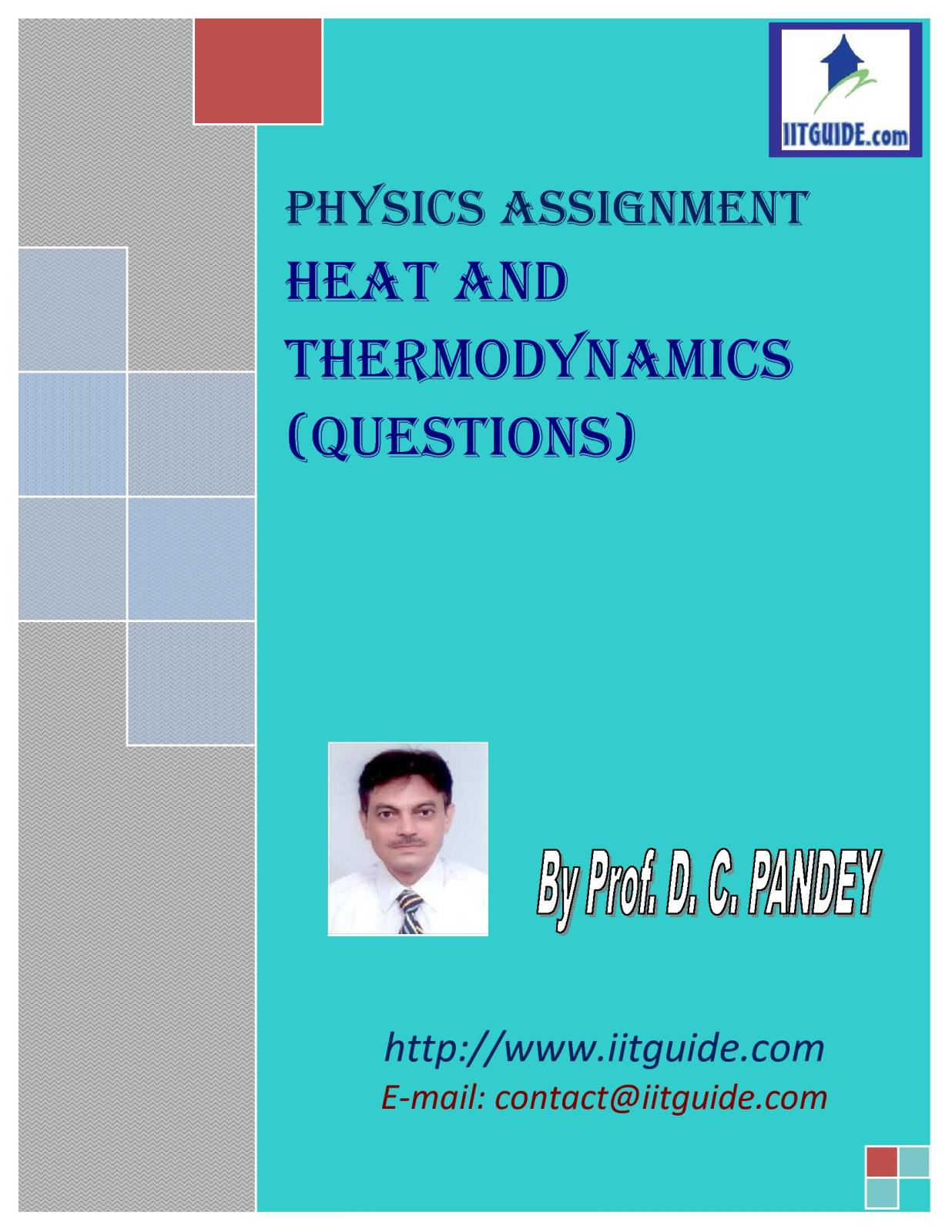 IIT JEE Main Advanced Physics Problems - Heat and Thermodynamics