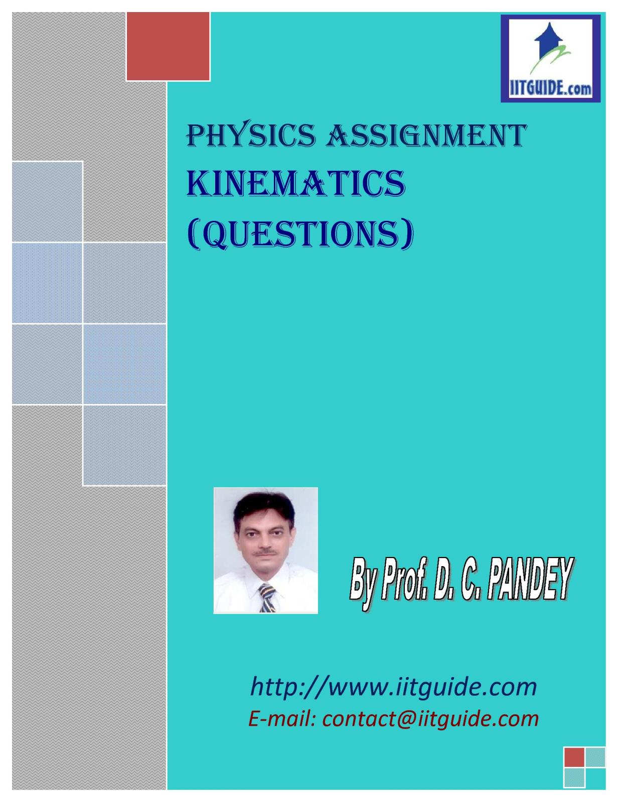 IIT JEE Main Advanced Physics Problems - Kinematics