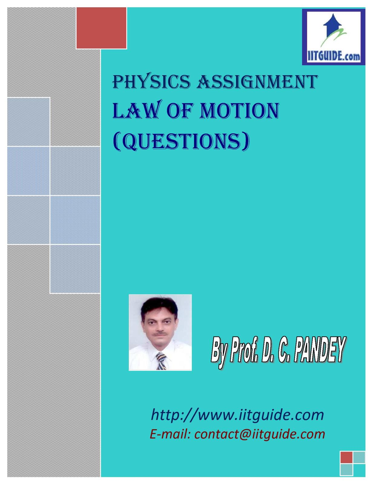 IIT JEE Main Advanced Physics Problems - Laws of Motion