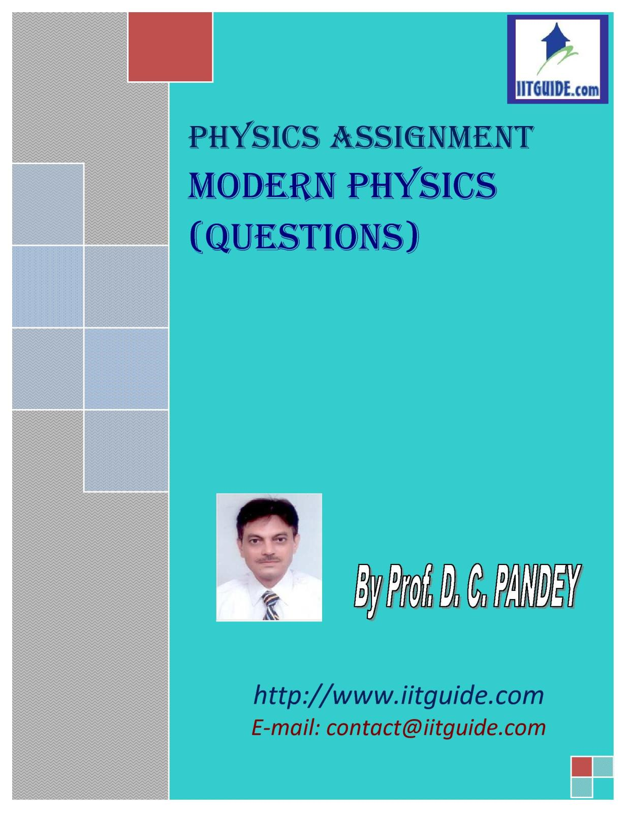 IIT JEE Main Advanced Physics Problems - Modern Physics
