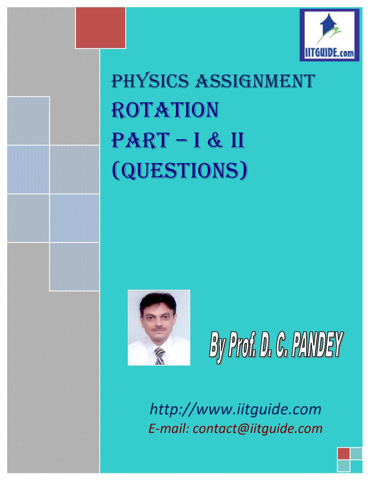 IIT JEE Main Advanced Physics Problems - Rigid Body Dynamics