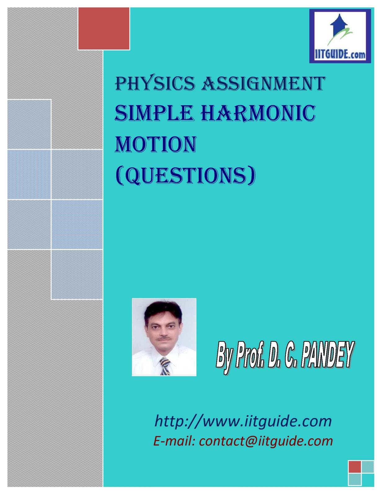 IIT JEE Main Advanced Physics Problems - Simple Harmonic Motion