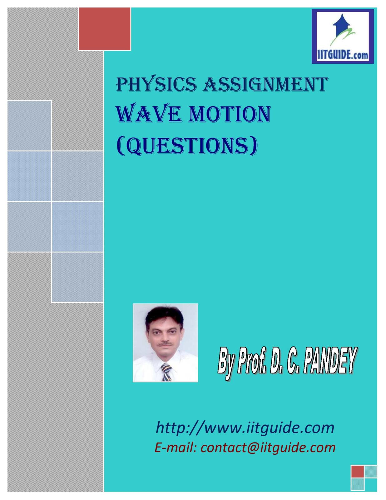 IIT JEE Main Advanced Physics Problems - Wave Motion