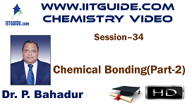 IIT JEE Main Advanced Coaching Online Class Video Chemistry - Chemical Bonding 2