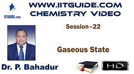 IIT JEE Main Advanced Coaching Online Class Video Chemistry – Gaseous State