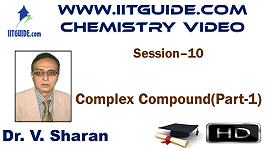IIT JEE Main Advanced Coaching Online Class Video Chemistry – Complex Compound 1