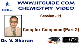 IIT JEE Main Advanced Coaching Online Class Video Chemistry – Complex Compound 2