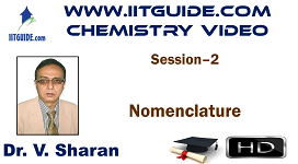 IIT JEE Main Advanced Coaching Online Class Video Chemistry – Nomenclature