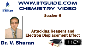 IIT JEE Main Advanced Coaching Online Class Video Chemistry – Attacking Reagent and Electron Displacement Effect