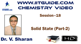 IIT JEE Main Advanced Coaching Online Class Video Chemistry – Solid State 2