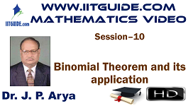 IIT JEE Main Advanced Coaching Online Class Video Math - Binomial Theorem and its Application