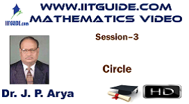 IIT JEE Main Advanced Coaching Online Class Video Math - Circle