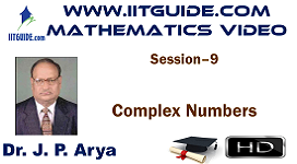 IIT JEE Main Advanced Coaching Online Class Video Math - Complex Numbers