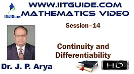 IIT JEE Main Advanced Coaching Online Class Video Math - Continuity and Differentiability