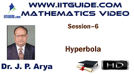 IIT JEE Main Advanced Coaching Online Class Video Math - Hyperbola