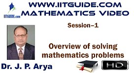 IIT JEE Main Advanced Coaching Online Class Video Math - Overview