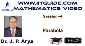 IIT JEE Main Advanced Coaching Online Class Video Math - Parabola