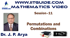 IIT JEE Main Advanced Coaching Online Class Video Math - Permutations and Combinations
