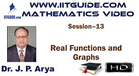 IIT JEE Main Advanced Coaching Online Class Video Math - Real Functions and Graphs