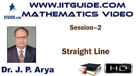 IIT JEE Main Advanced Coaching Online Class Video Math - Straight Line