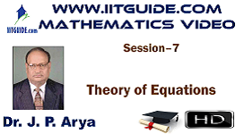 IIT JEE Main Advanced Coaching Online Class Video Math - Theory Of Equations