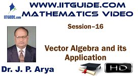 IIT JEE Main Advanced Coaching Online Class Video Math - Vector Algebra and its Application