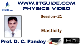 IIT JEE Main Advanced Coaching Online Class Video Physics - Elasticity