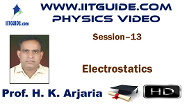IIT JEE Main Advanced Coaching Online Class Video Physics - Electrostatics