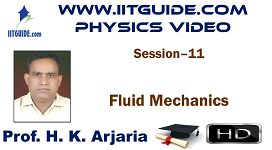 IIT JEE Main Advanced Coaching Online Class Video Physics - Fluid Mechanics