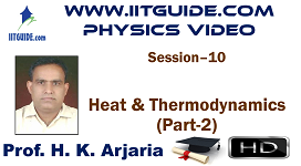 IIT JEE Main Advanced Coaching Online Class Video Physics - Heat and Thermodynamics 2