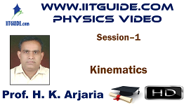 IIT JEE Main Advanced Coaching Online Class Video Physics - Kinematics