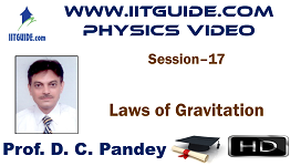IIT JEE Main Advanced Coaching Online Class Video Physics - Laws of Gravitation