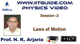 IIT JEE Main Advanced Coaching Online Class Video Physics - Laws of Motion