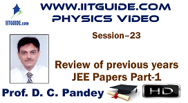 IIT JEE Main Advanced Coaching Online Class Video Physics - previous years IIT-JEE  Papers 1